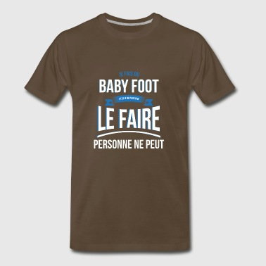 Baby foot nobody can gift - Men's Premium T-Shirt