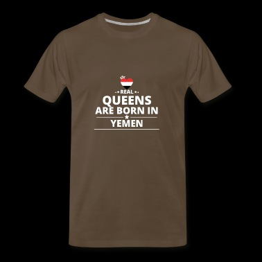 queens from geschenk i love YEMEN - Men's Premium T-Shirt