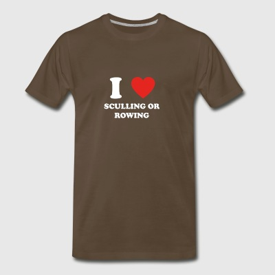 hobby gift birthday i love SCULLING OR ROWING - Men's Premium T-Shirt