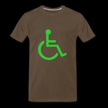 Wheelchair symbol mailto - Men's Premium T-Shirt