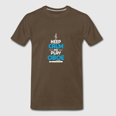 keep calm and play oboe - Men's Premium T-Shirt