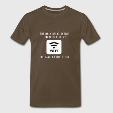 Single Pun Joke Funny Wifi Joke Graphic - Men's Premium T-Shirt