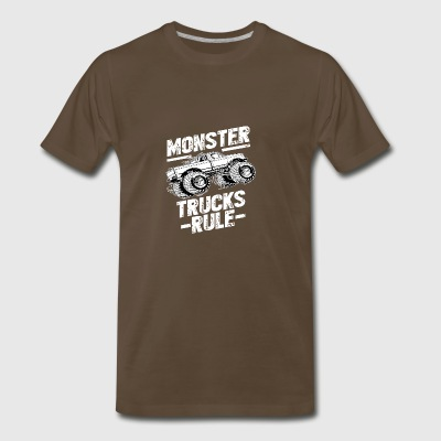 MONSTER TRUCKS RULE Tshirt - Men's Premium T-Shirt