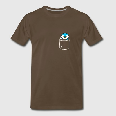 Penguin In Your Pocket Funny Animal Lover - Men's Premium T-Shirt
