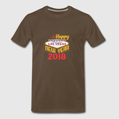 Las Vegas Happy New Year 2018 T Shirt - Men's Premium T-Shirt