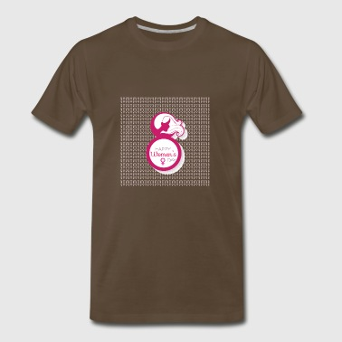 happy womens day 8 march - Men's Premium T-Shirt