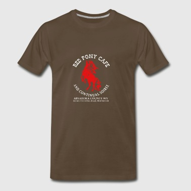 Red Pony Cafe and Continual Soiree Logo - Men's Premium T-Shirt