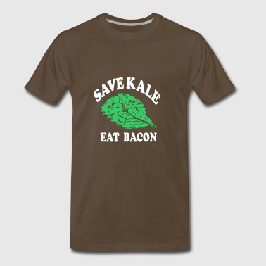 Save Kale Eat Bacon - Men's Premium T-Shirt