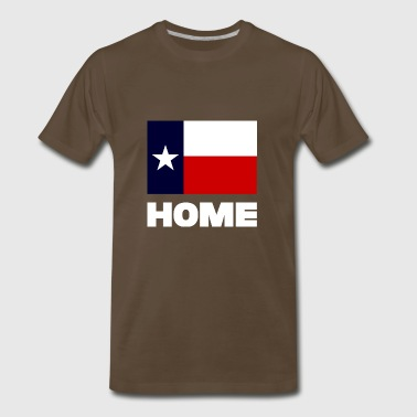 TEXAS FLAG HOME WHITE - Men's Premium T-Shirt
