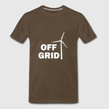 Off Grid in White - Men's Premium T-Shirt