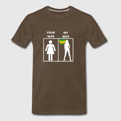 o Tome und Pri ncipe geschenk my wife your wif - Men's Premium T-Shirt