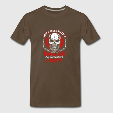 Don't mess with a bearded man - Men's Premium T-Shirt