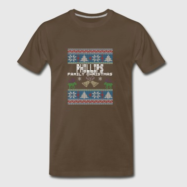 Ugly Phillips Christmas Family Vacation Tshirt - Men's Premium T-Shirt