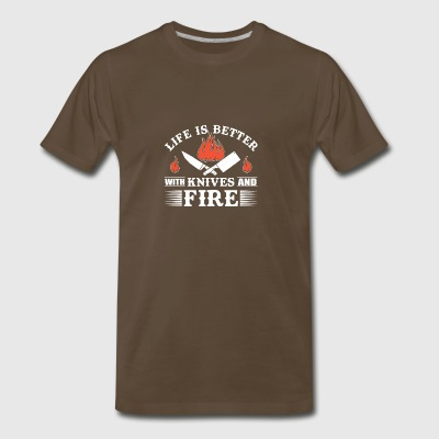 Life Is Better With Knives And Fire Chef - Men's Premium T-Shirt