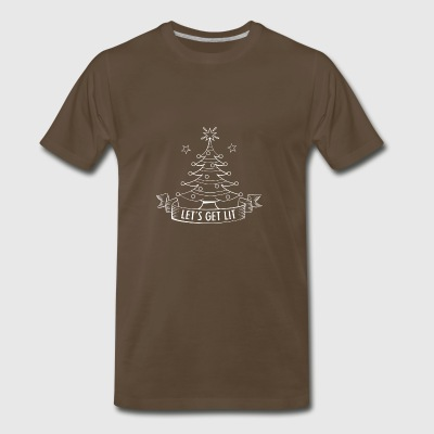 lets get lit christmas tree funny holiday gift - Men's Premium T-Shirt