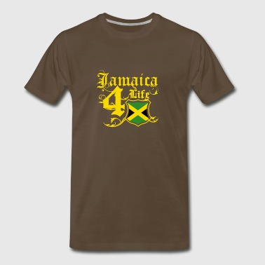 Proudly Jamaican for life flag tee shirt - Men's Premium T-Shirt
