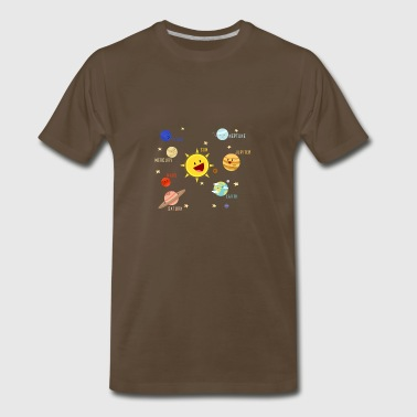 Planets Galaxy T-shirt Science Tee - Men's Premium T-Shirt
