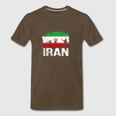 Iranian soccer player flag of Iran Long Sleeve T-S - Men's Premium T-Shirt