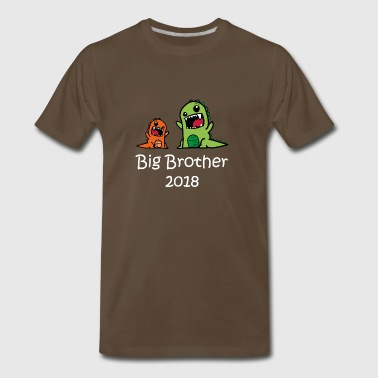 Big Brother Monster Dino Trex T-Shirt - Men's Premium T-Shirt