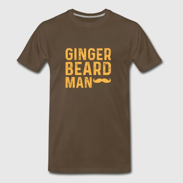 Ginger Beard Man - Funny Ginger Hair Shirt Gift - Men's Premium T-Shirt