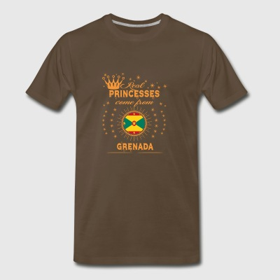 love princesses come from GRENADA - Men's Premium T-Shirt