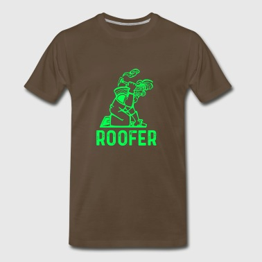 roofer, roof, roofing gift - Men's Premium T-Shirt