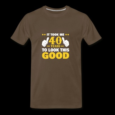 40th Birthday Shirt. Great Gift For Dad/Mom From K - Men's Premium T-Shirt