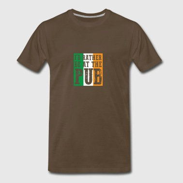 At The Bar gift for Irish People - Men's Premium T-Shirt