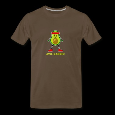 Avo Cardio Workout Funny Graphics - Men's Premium T-Shirt