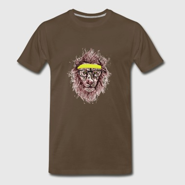 Hipster lion - Men's Premium T-Shirt