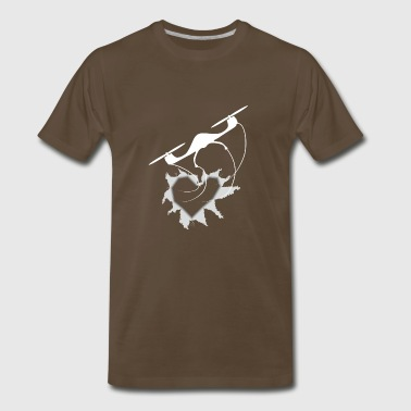 Right through the heart for drone pilots - Men's Premium T-Shirt