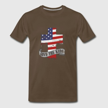 Save the kids now, not the guns. Gun control now - Men's Premium T-Shirt