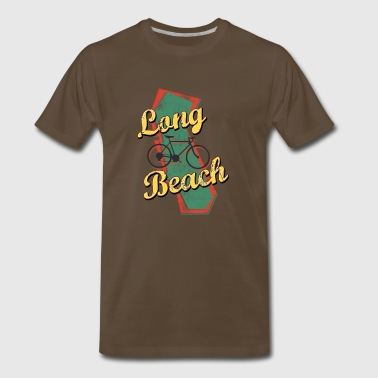 Bicycle Bike Long Beach California Vintage - Men's Premium T-Shirt