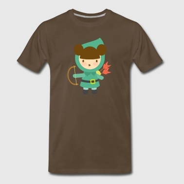 Cute Girl Archer - Men's Premium T-Shirt