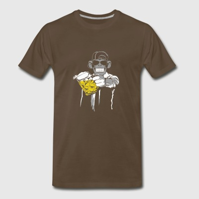 ape beer monkey - Men's Premium T-Shirt