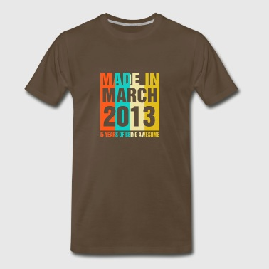 Retro March 2013 5 Years Of Being Awesome - Men's Premium T-Shirt
