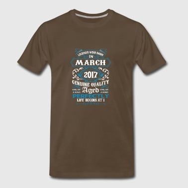 Legends March 2017 Life Begin At 1 - Men's Premium T-Shirt