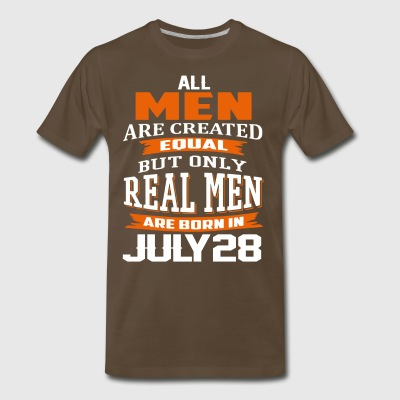 Only Real Men Are Born On JULY 28 - Men's Premium T-Shirt