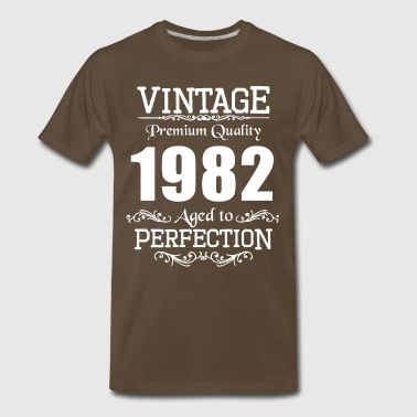 Vintage Premium Quality 1982 Aged To Perfection - Men's Premium T-Shirt
