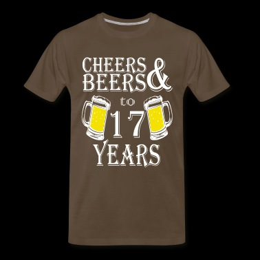 Cheers And Beers To 17 Years - Men's Premium T-Shirt