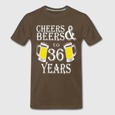 Cheers And Beers To 36 Years - Men's Premium T-Shirt