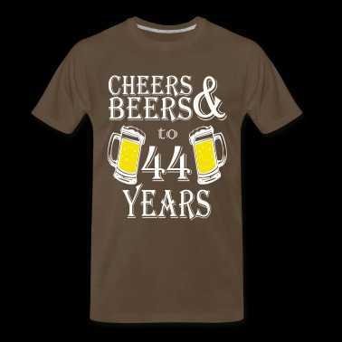 Cheers And Beers To 44 Years - Men's Premium T-Shirt