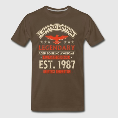 Limited Edition Legendary Est 1987 - Men's Premium T-Shirt