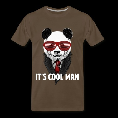 Panda - It's cool man - Men's Premium T-Shirt