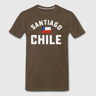 Santiago Chile flag tshirt - Men's Premium T-Shirt