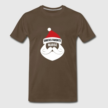 Santa's Favorite Nurse - Funny Christmas Nursing - Men's Premium T-Shirt