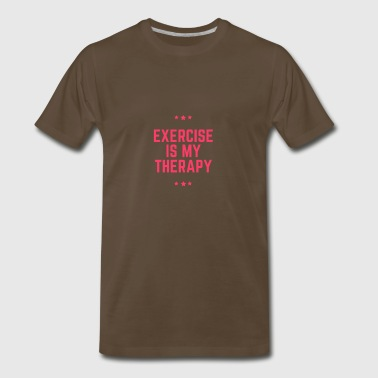 Exercise Is My Therapy. (Stars) - Men's Premium T-Shirt