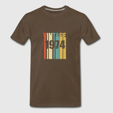 Vintage 1974 Retro - Men's Premium T-Shirt