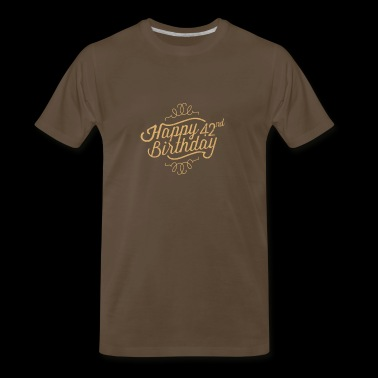 Happy 42nd Birthday - Men's Premium T-Shirt