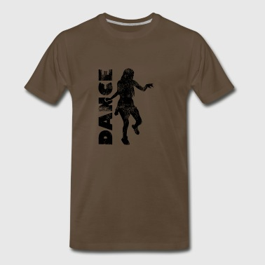 Shuffle means moving quickly - dance! - Men's Premium T-Shirt